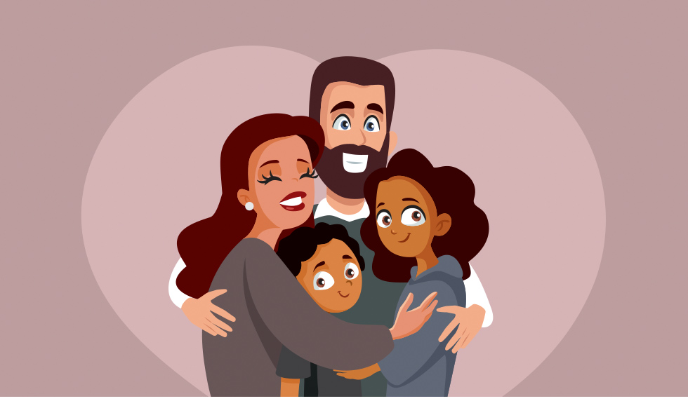 Picture of a Loving Foster Family