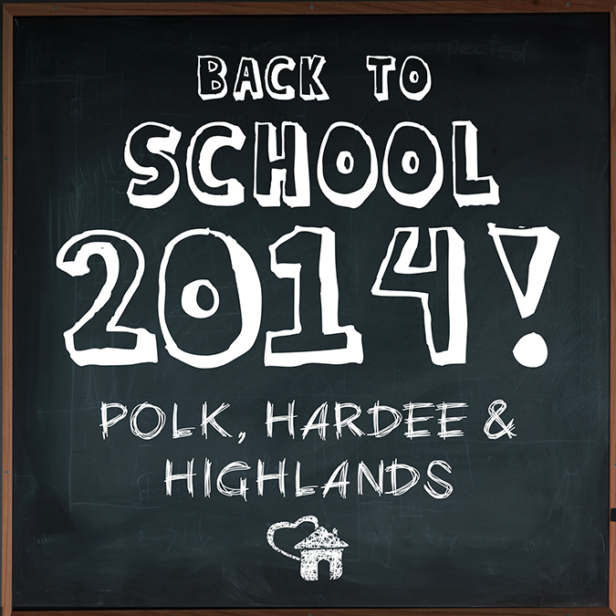 Back to School 2014 in Polk, Hardee & Highlands